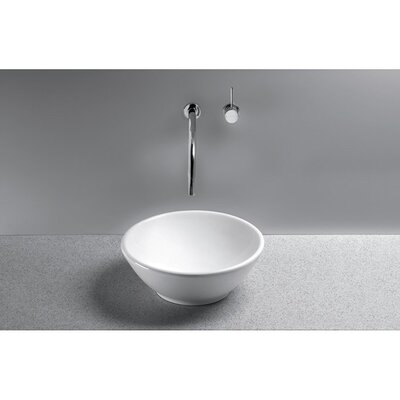 Larissa Ceramic Circular Vessel Bathroom Sink Sink Finish: Colonial White