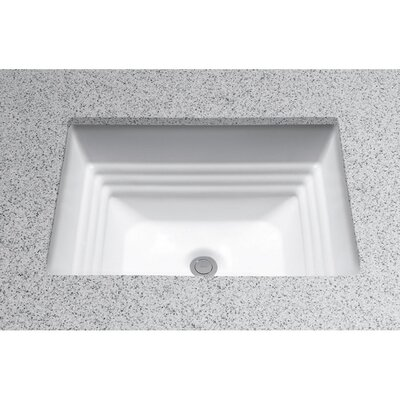 Promenade Vitreous China Rectangular Undermount Bathroom Sink with Overflow Sink Finish: Ebony