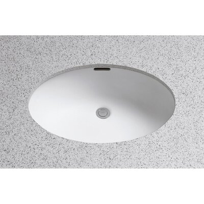 Augusta Decorative ADA Compliant Rimless Oval Undermount Bathroom Sink with Overflow Sink Finish: Colonial White