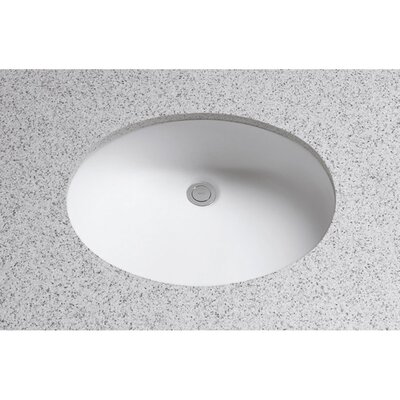 Dantesca Oval Undermount Bathroom Sink with Overflow Sink Finish: Colonial White
