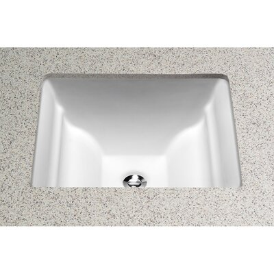 Aimes Rectangular Undermount Bathroom Sink with Overflow Sink Finish: Colonial White