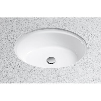 Waza Barocco Oval Undermount Bathroom Sink with Overflow Sink Finish: Cotton