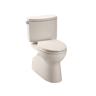 Vespin II High Efficiency 1.28 GPF Elongated Two-Piece Toilet Toilet Finish: Bone