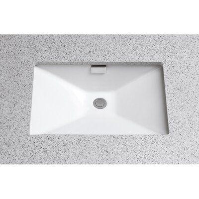 Lloyd Rectangular Undermount Sink with Overflow Sink Finish: Colonial White