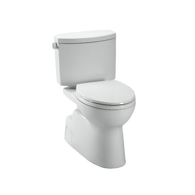 Vespin II High Efficiency 1.28 GPF Elongated Two-Piece Toilet Toilet Finish: Colonial White