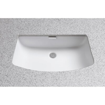 Soiree Ceramic Rectangular Undermount Bathroom Sink with Overflow Sink Finish: Colonial White
