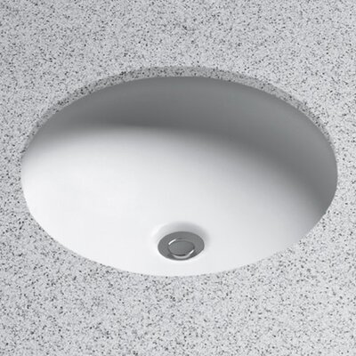 Curve Vitreous China Circular Undermount Bathroom Sink with Overflow Sink Finish: Cotton