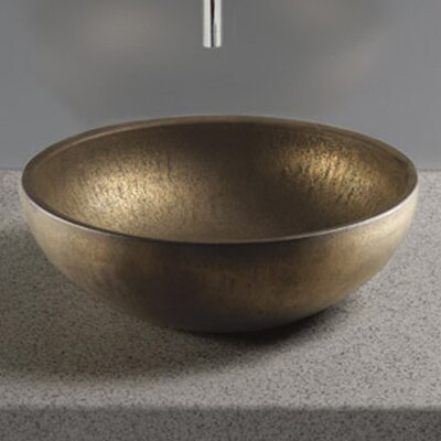 Waza Circular Vessel Bathroom Sink Sink Finish: Burnished Gold
