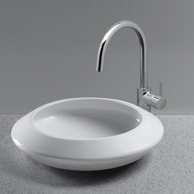 Curva Circular Vessel Bathroom Sink Sink Finish: Cotton