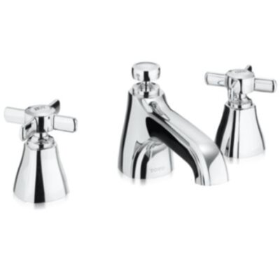 Guinevere 1.5 GPM Widespread Bathroom Faucet with Cross Handle Finish: Polished Chrome