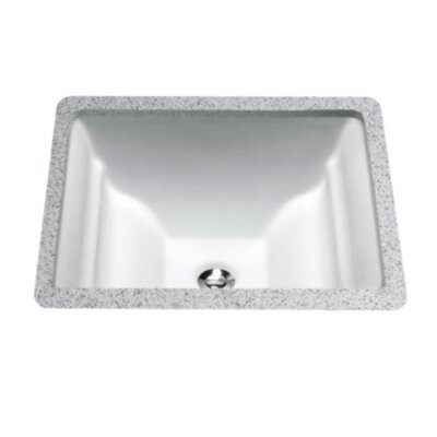 Aimes Rectangular Undermount Bathroom Sink Finish: Bone