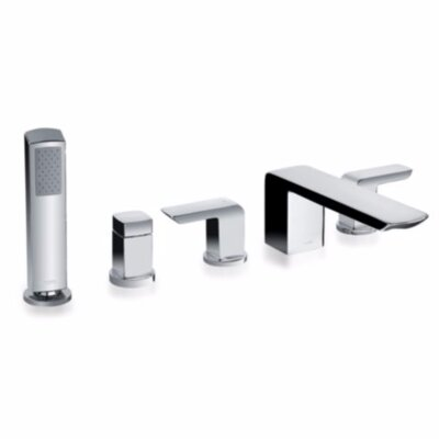 Soiree 5 Hole Deck Bath Trim in Polished Chrome