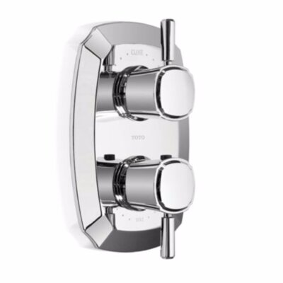 Guinevere Lever Type SMA Valve Trim with Dual Volume Controls in Polished Chrome