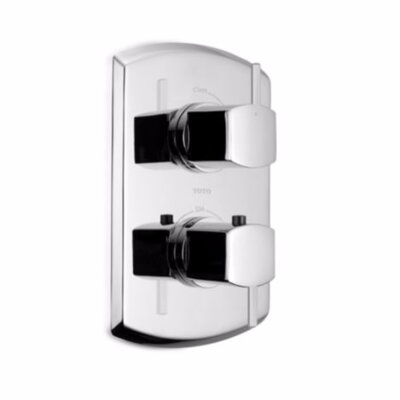 Soiree Lever Type SMA Valve Trim with Volume Control in Polished Chrome