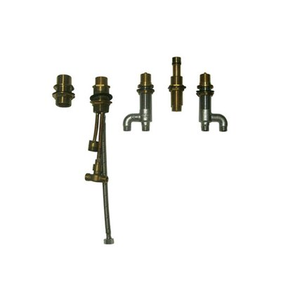 Five Hole Deck Mount Bath Faucet Valve in Brass