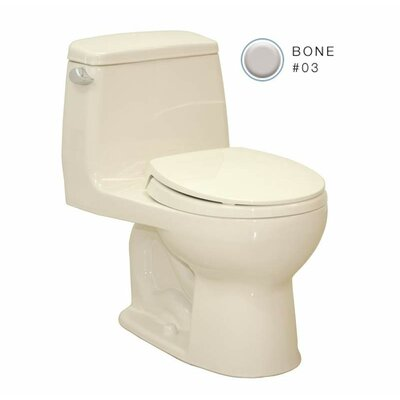 Supreme 1.6 GPF Elongated One-Piece Toilet Toilet Finish: Bone