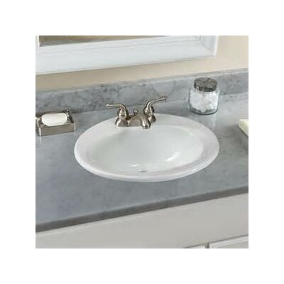 Self Rimming Bathroom Sink Faucet Mount: 4 Centers