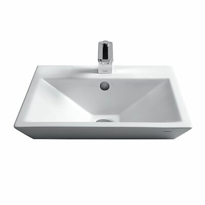 Kiwami Square Vessel Bathroom Sink Faucet Mount: Single Hole