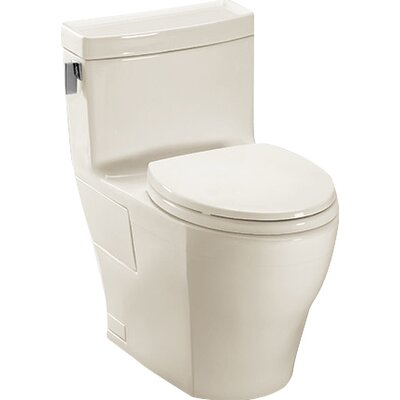 Legato High Efficiency 1.28 GPF Elongated One-Piece Toilet Toilet Finish: Sedona Beige