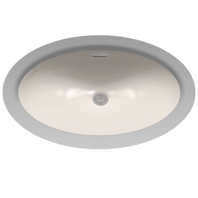 Augusta Decorative Rimless Oval Undermount Bathroom Sink with Overflow Sink Finish: Sedona Beige