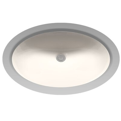 Dantesca Oval Undermount Bathroom Sink with Overflow Sink Finish: Sedona Beige