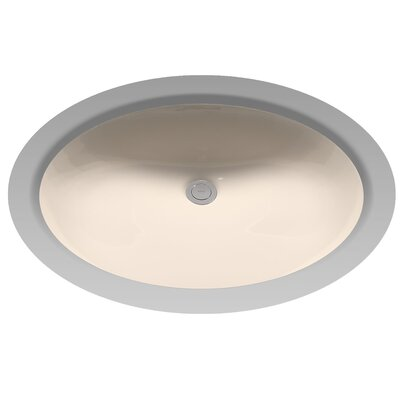 Dantesca Ceramic Oval Undermount Bathroom Sink with Overflow Sink Finish: Bone