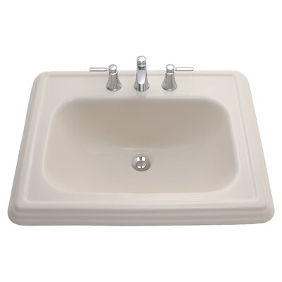 Promenade Self Rimming Bathroom Sink Sink Finish: Sedona Beige, Faucet Mount: 8 Centers