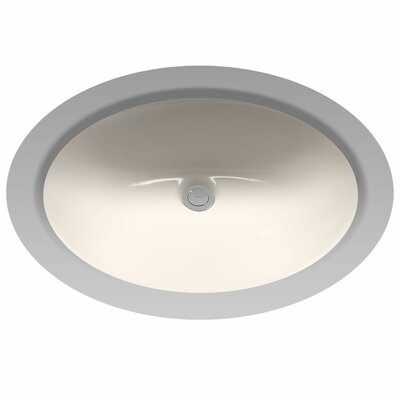 Rendezvous Circular Undermount Bathroom Sink with with Overflow Sink Finish: Sedona Beige