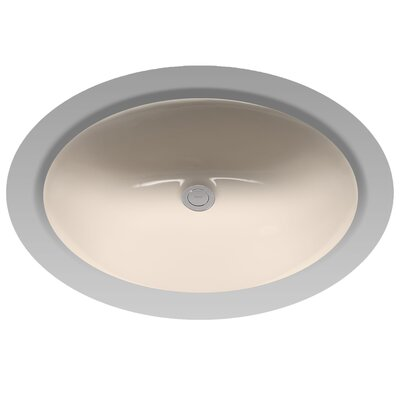 Rendezvous Circular Undermount Bathroom Sink with with Overflow Sink Finish: Bone