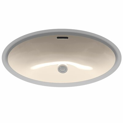 Augusta Decorative ADA Compliant Rimless Oval Undermount Bathroom Sink with Overflow Sink Finish: Bone
