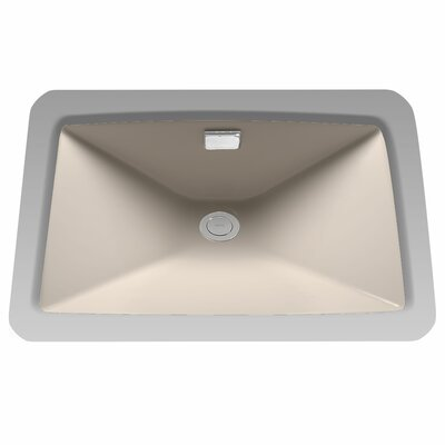 Lloyd Rectangular Undermount Sink with Overflow Sink Finish: Ebony