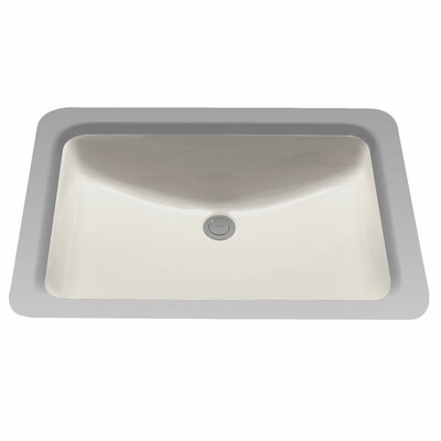 Rimless Rectangular Undermount Bathroom Sink with Overflow Sink Finish: Sedona Beige