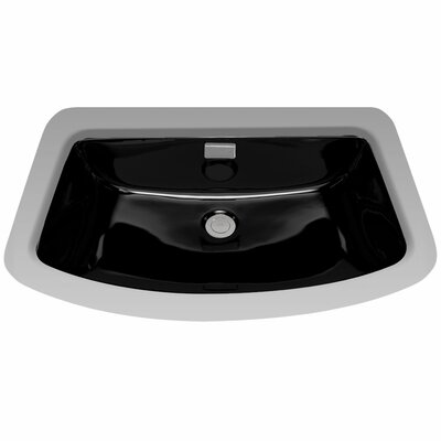 Soiree Ceramic Rectangular Undermount Bathroom Sink with Overflow Sink Finish: Ebony