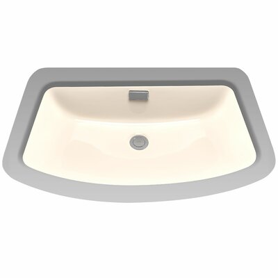 Soir�e Rectangular Undermount Bathroom Sink with Overflow Sink Finish: Bone