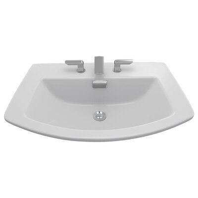 Soir�e Self Rimming Bathroom Sink Faucet Mount: 4 Centers, Sink Finish: Colonial White
