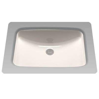 Augusta Decorative Rectangular Undermount Bathroom Sink with Overflow Sink Finish: Sedona Beige