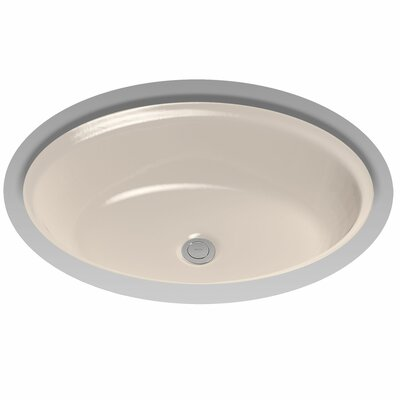 Dartmouth Ceramic Oval Undermount Bathroom Sink with Overflow Sink Finish: Colonial White