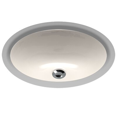 Undermount Oval Bathroom Sink with Overflow Sink Finish: Sedona Beige