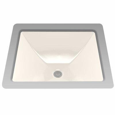 Legato Rectangular Undermount Bathroom Sink with Overflow Sink Finish: Sedona Beige