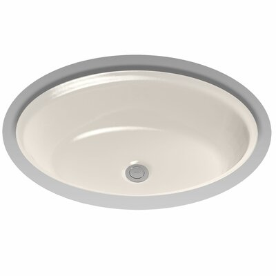 Dartmouth Ceramic Oval Undermount Bathroom Sink with Overflow Sink Finish: Sedona Beige