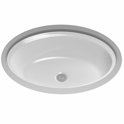 Waza Barocco Oval Undermount Bathroom Sink with Overflow Sink Finish: Colonial White