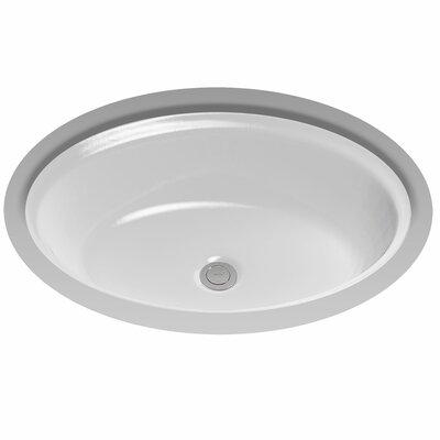Dartmouth Ceramic Oval Undermount Bathroom Sink with Overflow Sink Finish: Bone