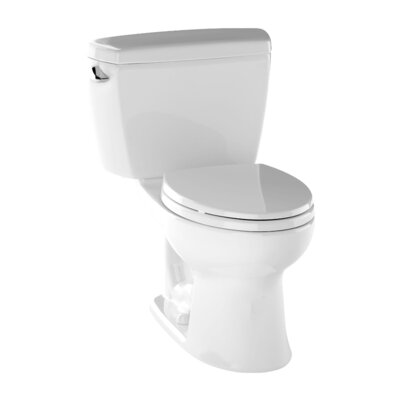 Drake 1.6 GPF Elongated Two-Piece Toilet Finish: Cotton White
