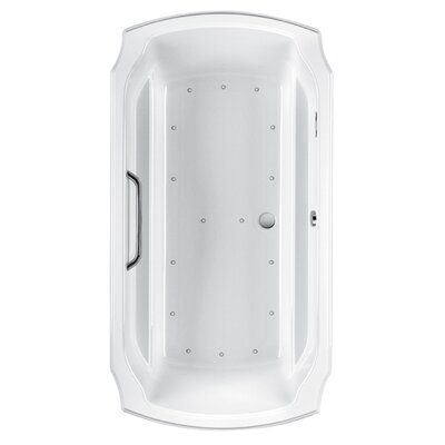 Guinevere 72 x 38 Air Bathtub Configuration: Right Keypad with Left Blower, Finish: Cotton  Polished Nickel
