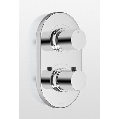 Nexus Thermostatic Mixing Valve Trim with Dual Volume Control Finish: Polished Chrome