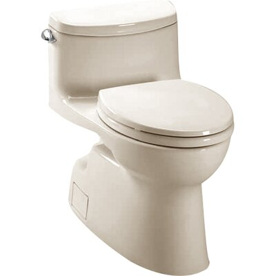 Carolina II High Efficiency 1.28 GPF Elongated One-Piece Toilet Toilet Finish: Bone