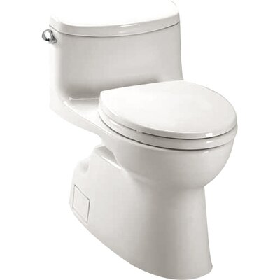 Carolina II High Efficiency 1.28 GPF Elongated One-Piece Toilet Toilet Finish: Cotton