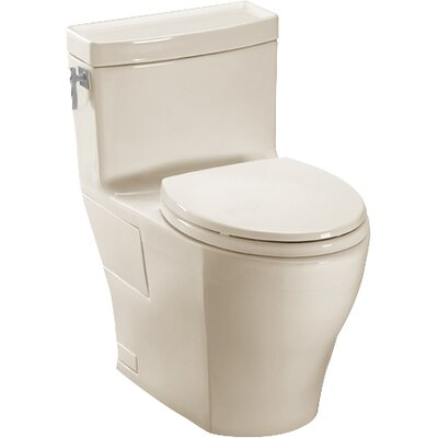 Aimes High Efficiency 1.28 GPF Elongated One-Piece Toilet Toilet Finish: Bone