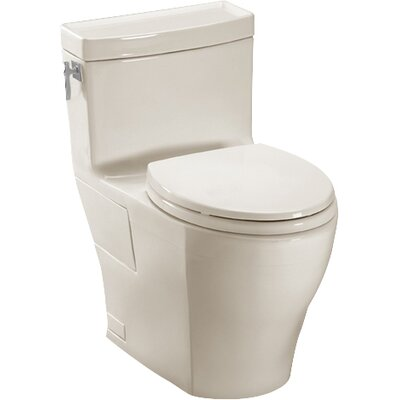 Aimes High Efficiency 1.28 GPF Elongated One-Piece Toilet Toilet Finish: Sedona Beige