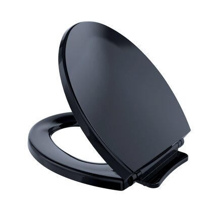 SoftClose Round Toilet Seat Seat Finish: Ebony